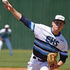 Enid's Jonny Chavez delivers a pitch against Edmond North during the regional tournament Wednesday May 4, 2016 at Deer Creek High School. (Billy Hefton / Enid News & Eagle)