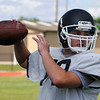 OBA's Will LeForce throws a pass during spring practice Wednesday May 18, 2016. (Billy Hefton / Enid News & Eagle)
