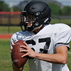 OBA's Judd Minx throws a pass during spring practice Wednesday May 18, 2016. (Billy Hefton / Enid News & Eagle)