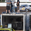 Fans watch from atop a trailer on the infield during the opening night of the Enid Speedway May 6, 2017. (Billy Hefton / Enid News & Eagle)