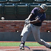 Phoenix CC's Anthony Williams hits a double against Mercer County during the opening day of the 2017 NJCAA DII World Series Saturday May 27, 2017 at David Allen Memorial Ballpark. (Billy Hefton / Enid News & Eagle)