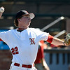 NOC Enid's starting pitcher, Josh Rutland, delivers a pitch against NOC Tonkawa during an elimination game of the Region 2 tournament Sunday May 14, 2017 at David Allen Memorial Ballpark. (Billy Hefton / Enid News & Eagle)