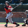 NOC Enid's Clayton Peterson leads off the game against Redlands CC with a double during the Region 2 tournament at David Allen Memorial Ballpark Friday May 11, 2018. (Billy Hefton / Enid News & Eagle)
