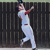 NOC Enid's Wesley O' Neill makes a catch on the warning track against Western CC Thursday May 3, 2018. (Billy Hefton / Enid News & Eagle)