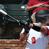 NOC Enid's Wesley O'Neill hits a RBI double against Western during the first game of the Region 2 tournament championship Sunday May 13, 2018 at David Allen Memorial Ballpark. (Billy Hefton / Enid News & Eagle)