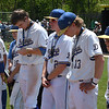 Members of the Drummond standby as Leedy gets the state championship trophy after defeating the Bulldogs 2-1 in the class B state championship game Saturday May 5, 2018 in Oklahoma City. (Billy Hefton / Enid News & Eagle)