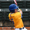 Southern Arkansas' Dakota Wright gets a base bit against Oklahoma Baptist University Tuesday May 8, 2018 during the Great American Conference tournament at David Allen Memorial Ballpark. (Billy Hefton / Enid News & Eagle)