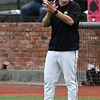 Pasco-Hernando coach Lyndon Coleman during the opening game of the 2019 NJCAA DII World Series Saturday May 25, 2019 at David Allen Memorial Ballpark. (Billy Hefton / Enid News & Eagle)
