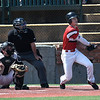 NOC Enid's Clay Lockett hits a walk off grand slam home run against Redlands CC Sunday May 12, 2019 during the Region 2 tournament at David Allen Memorial Ballpark. (Billy Hefton / Enid News & Eagle)