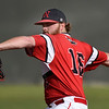 NOC Enid's Jarrett Sweeney delivers a pitch against Redlands CC during the Region 2 championship Sunday May 12, 2019. (Billy Hefton / Enid News & Eagle)