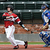 NOC Enid's Tanner Neely hits a 2 run home run against Murray State during the Region 2 tournament Thursday May 9, 2019 at David Allen Memorial Ballpark. (Billy Hefton / Enid News & Eagle)