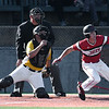 NOC Enid's D.J. Calvert drives in the game tying runs in the 9th inning against Pasco-Hernando State during the NJCAA DII World Series Wednesday, May 29, 2019, at David Allen Memorial Ballpark. (Billy Hefton / Enid News & Eagle)