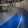 Exercise track around the top of Hennessey High School's Eagle Event Center Thursday, May 28, 2020. (Billy Hefton / Enid News & Eagle)