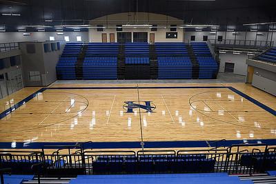 Hennessey High School's Eagle Event Center Thursday, May 28, 2020. (Billy Hefton / Enid News & Eagle)