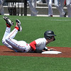 NOC End's Gage Ninness dives into second base against Redlands CC Thursday, May 6, 2021 at David Allen Memorial Ballpark. (Billy Hefton / Enid News & Eagle)