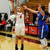 NOC Enid's Rylie Torrey shoots against Murray State's Natalia Pushkareva Thursday November 19, 2015 at the NOC Mabee Center. (Billy Hefton / Enid News & Eagle)