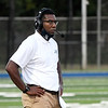 Enid head coach, Reshaun Woods, watches the action against Westmoore October 9, 2020 at D. Bruce Selby Stadium. (Billy Hefton / Enid News & eagle)