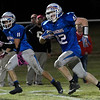 Waukomis' David Demoret runs after catching a pass against Cherokee Friday October 14, 2016 at Waukomis High School. (Billy Hefton / Enid News & Eagle)