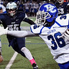 Deer Creek's Cole Bumgardner runs against Enid Friday October 7, 2016 at D. Bruce Selby Stadium in Enid. (Billy Hefton / Enid News & Eagle)