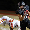 OBA's William Price carries the ball against Texhoma Friday October 26, 2018 at OBA. (Billy Hefton / Enid News & Eagle)