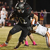 OBA's Baron Winter carries the ball against Texhoma Friday October 26, 2018 at OBA. (Billy Hefton / Enid News & Eagle)