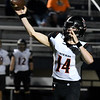 Norman's Cade Horton throws a pass against Enid Friday October 18, 2019 at D. Bruce Selby Stadium in Enid. (Billy Hefton / Enid News & Eagle)