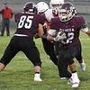 Pioneer's Rafael Torres carries the ball against Cherokee September 11, 2020 at Pioneer High School. (Billy Hefton / Enid News & Eagle)