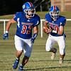 Waukomis' Thad Terrel follows Wyatt Felber against Garber September 3, 2020 at Waukomis High School. (Billy Hefton / Enid News & Eagle)