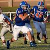 Waukomis' Wyatt Felber carries the ball against Garber September 3, 2020 at Waukomis High School. (Billy Hefton / Enid News & Eagle)