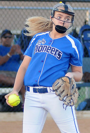 Stillwater's Taylor Lane fields an infield fly ball and glances toward first for a possible double play during a game against the Enid Pacers at Pacer Field in Enid Monday, Sept. 23, 2013. (Photo Courtesy of Enid News & Eagle, Bonnie Vculek)