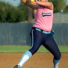 Abby Lewis delivers a pitch against Owasso Tuesday at Pacer Field. (Staff Photo by BILLY HEFTON)