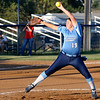Abby Lewis delivers a pitch against Ponca City Tuesday at Pacer Field. (Staff Photo by BILLY HEFTON)