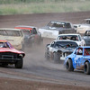 Pure Stocks race at the Enid Speedway Saturday, Sept. 7, 2013. (Staff Photo by BONNIE VCULEK)