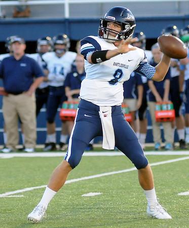 Bartlesville quarterback Colton Penrod (Staff Photo by BONNIE VCULEK)