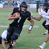 OBA's Jud Minx runs against Alva Friday September 9, 2016 at Oklahoma Bible Academy. (Billy Hefton / Enid News & Eagle)