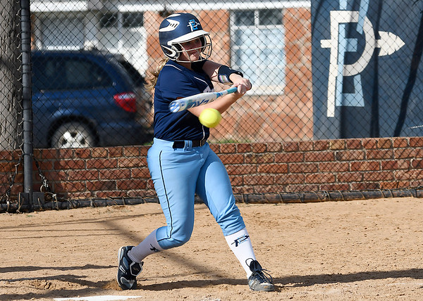 Enid's Lauren Black bats against Sapulpa Tuesday September 6, 2016 at Pacer Field. (Billy Hefton / Enid News & Eagle)
