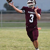 Pioneer's Ty Dennett throws a pass against Yale Friday, September 20, 2019 at Pioneer High School. (Billy Hefton / Enid News & Eagle)