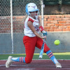 Chisholm's Regi Pasby makes contact against Enid Tuesday, September 17, 2019 at David Allen Memorial Ballpark. (Billy Hefton / Enid news & Eagle)