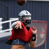 Enid's Blake Priest throws a pass during practice Wednesday, September 2, 2020 at D. Bruce Selby Stadium. (Billy Hefton / Enid News & Eagle)
