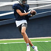 Enid's Cam Mathis catches a pass during practice Wednesday, September 2, 2020 at D. Bruce Selby Stadium. (Billy Hefton / Enid News & Eagle)