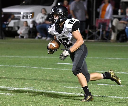 Pond Creek-Hunter's Connor Czapansky returns a kickoff against Garber Friday, September 24, 2021 at Garber High School. (Billy Hefton / Enid News & Eagle)