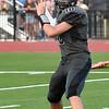 Pond Creek-Hunter's Ethan Ensminger throws a pass against DCLA Thursday, September 2, 2021 at Pond Creek-Hunter High School. (Billy Hefton / Enid News & Eagle)