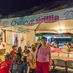 2015-01 Barbados Trip_0236 Anita at Oistens Fish Fry