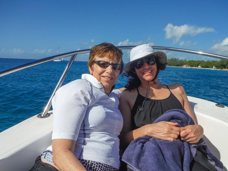 2015-01 Barbados Trip_0120 Anita & Lindsey on the Boat Tour