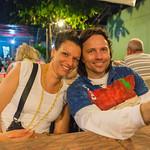2015-01 Barbados Trip_0233 Lindsey & Daniel at Oistens Fish Fry