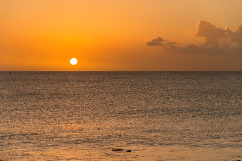 2015-01 Barbados Trip_0200 Sunset from our Room Veranda