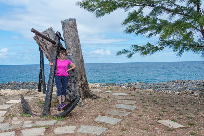 2015-01 Barbados Trip_0287 Anita at The Animal Flower Cave