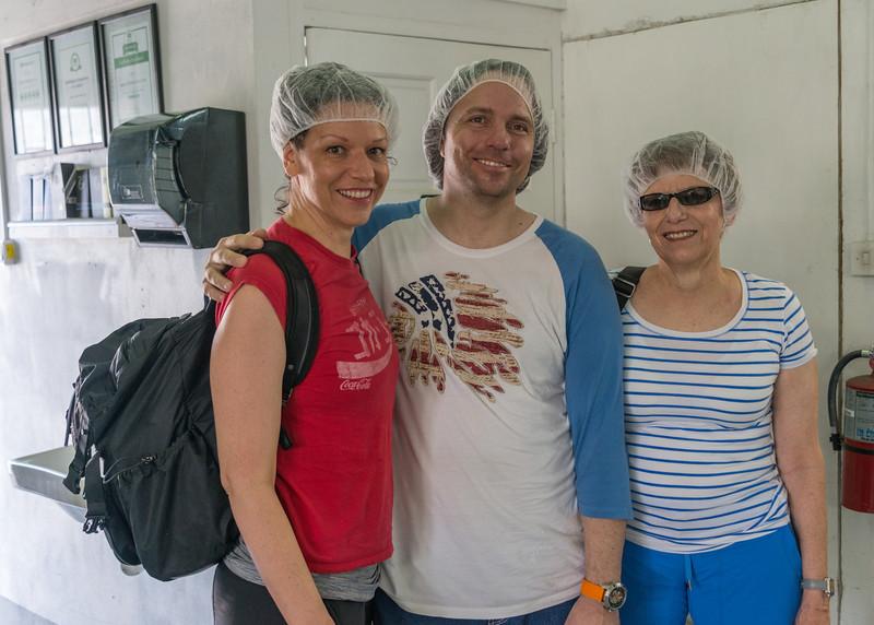 2015-01 Barbados Trip_0015 Anita, Daniel & Lindsey at the Agapey Chocolate Factory