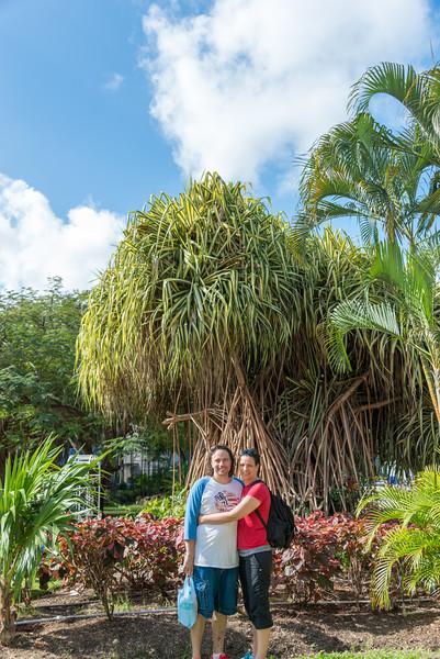 2015-01 Barbados Trip_0008 Daniel & Lindsey in our Hotel Courtyard