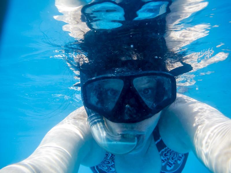 2015-01 Barbados Trip_0442 Snorkeling Trip to See the Turtles and Fish - Lindsey's Selfie